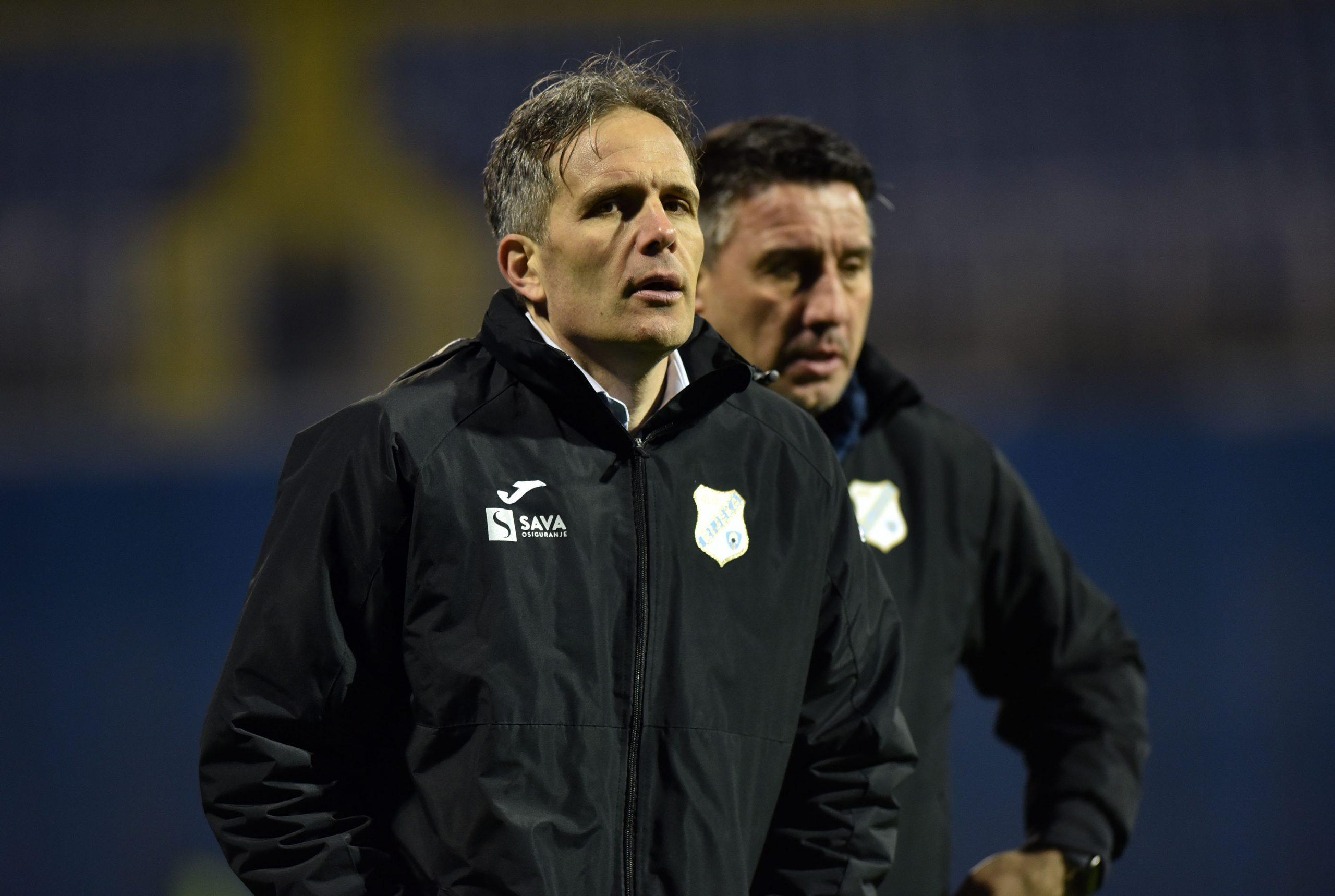 Trener Rijeke Goran Tomić/Foto D. KOVAČEVIĆ