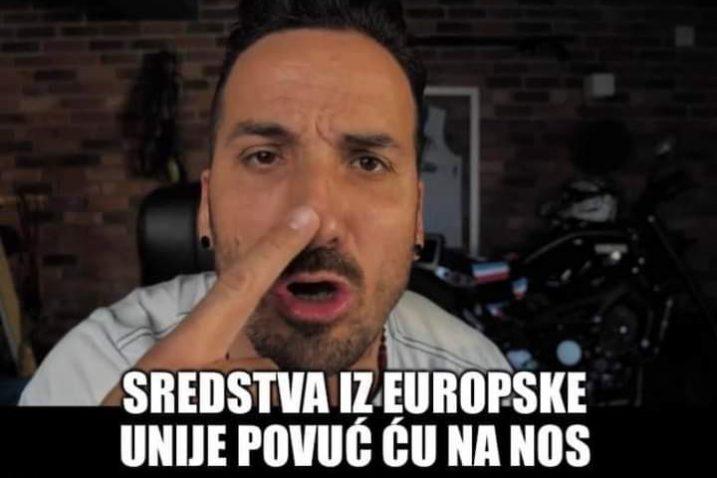 Jedna od satiričnih objava sa stranice Marin Miletić- moj gradonačelnik
