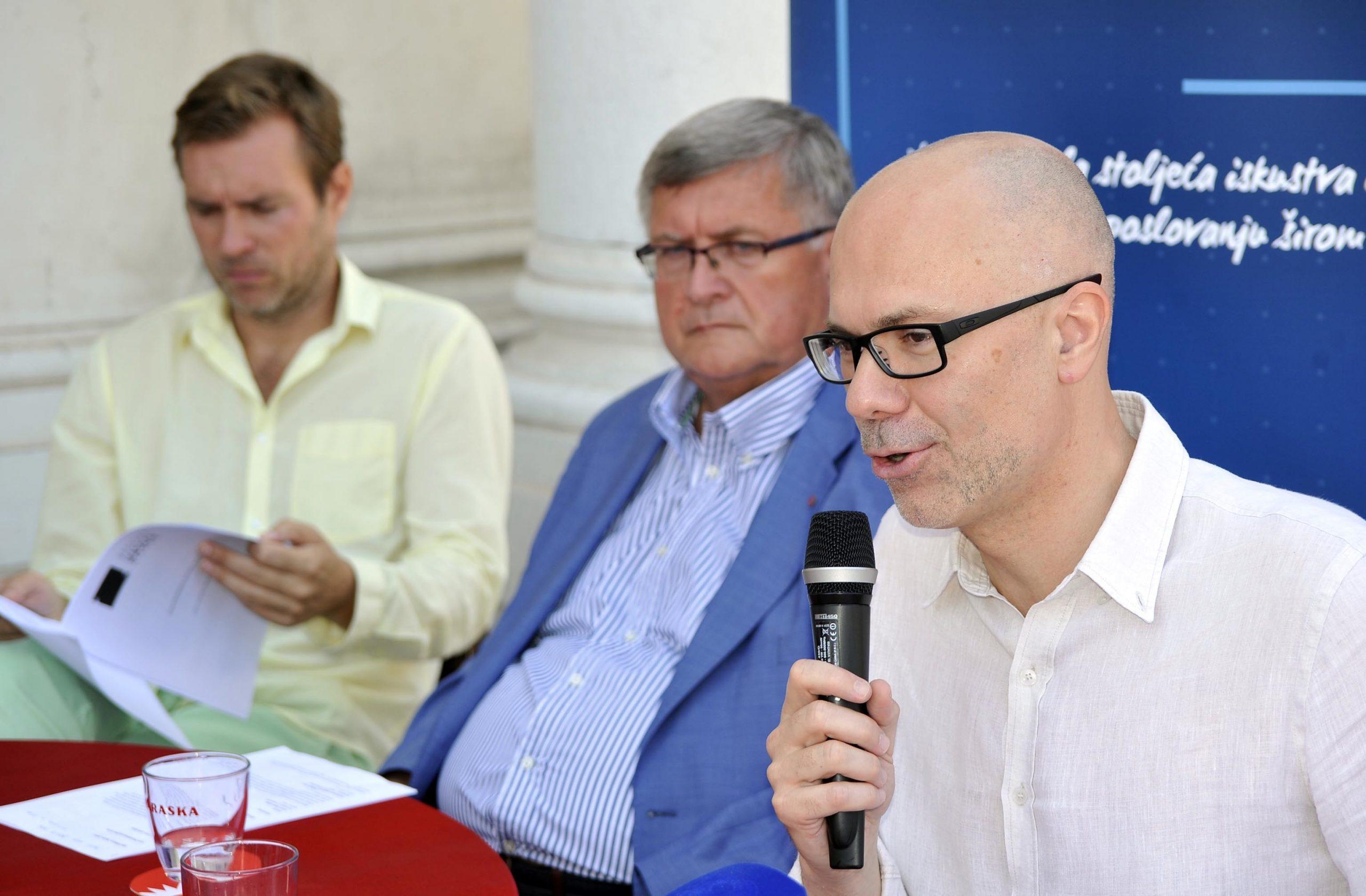 Marin Blažević govori, Obersnel i Šarar šute / Foto: D. ŠKOMRLJ