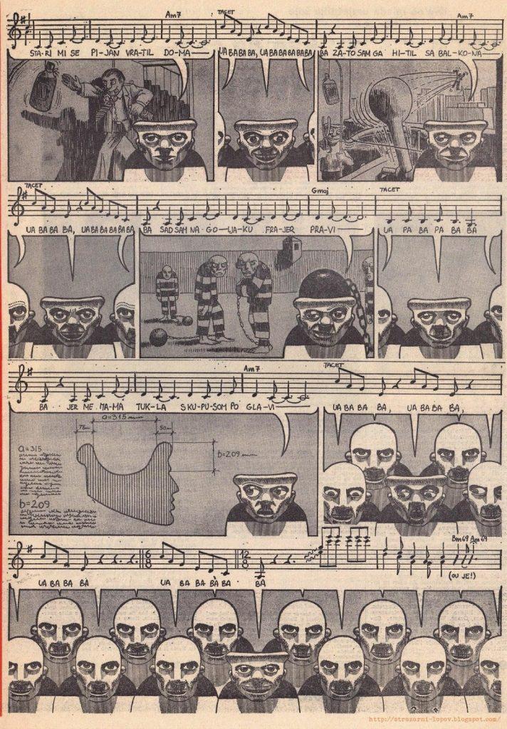 : Dio stripa »Debil blues« iz Poleta, koji je nacrtao Mirko Ilić