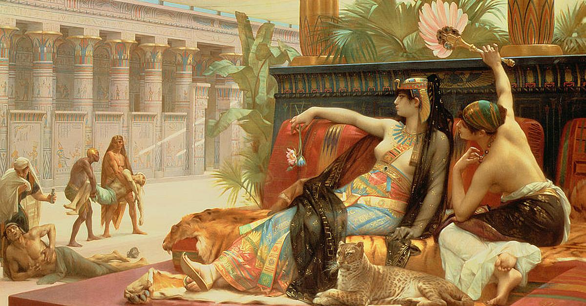 Kleopatra - ilustracija iz knjige