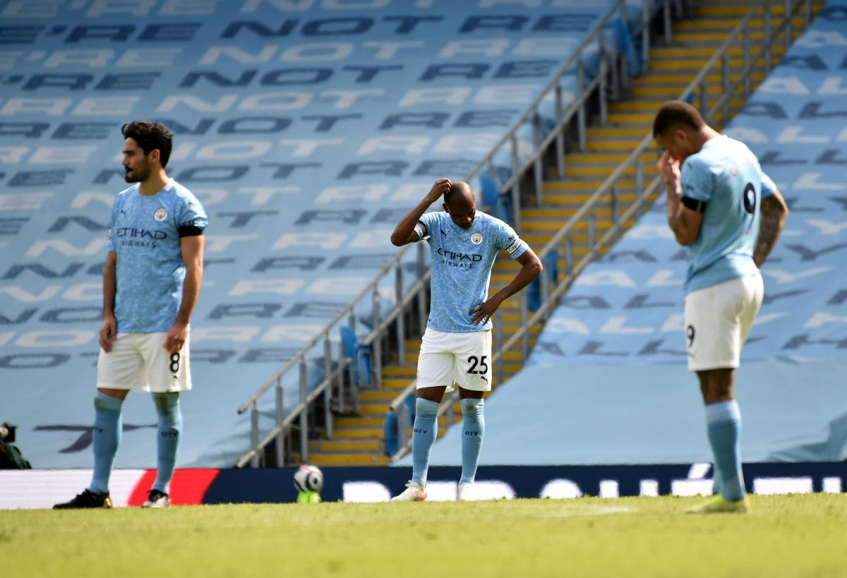 Razočarani igrači Manchester Cityja/Foto: REUTERS