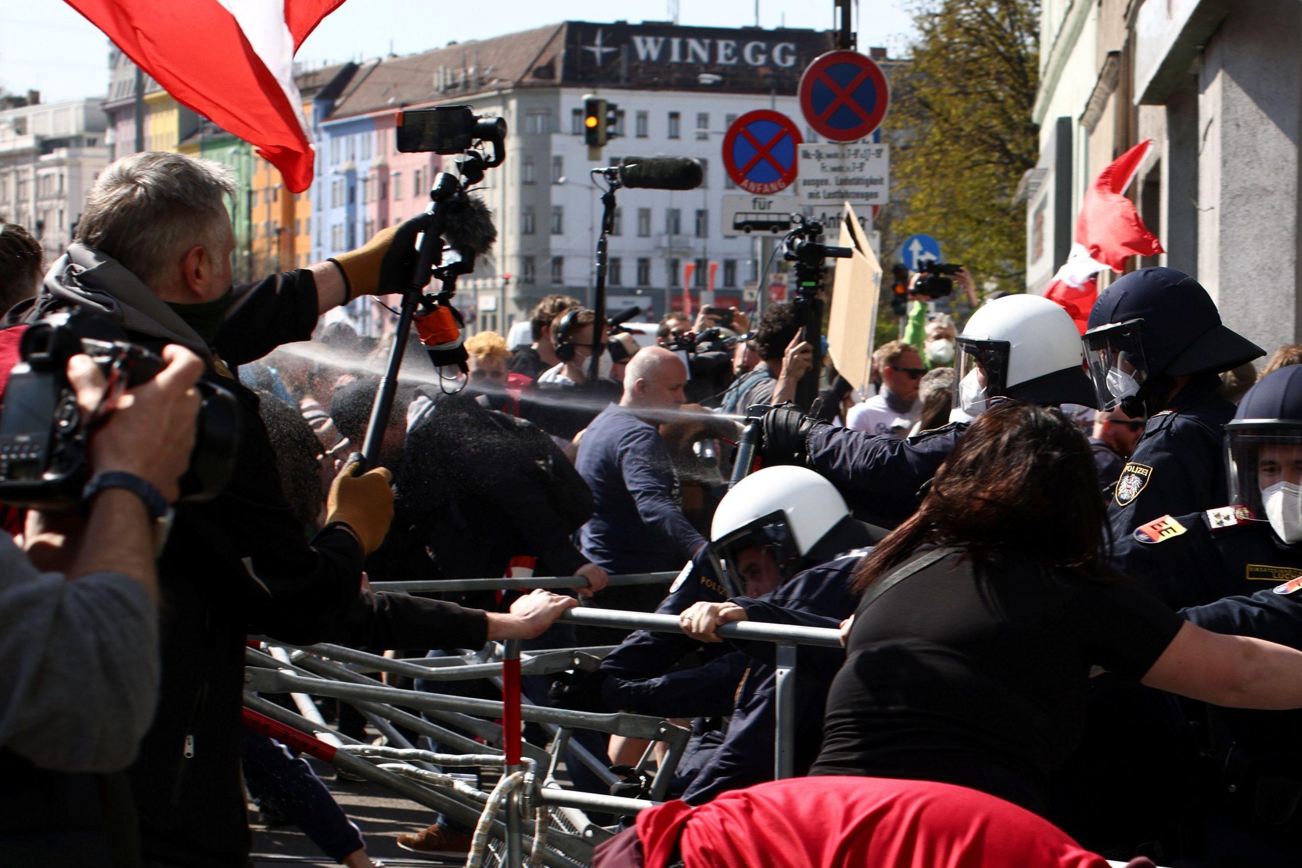Prosvjed u Beču /Reuters