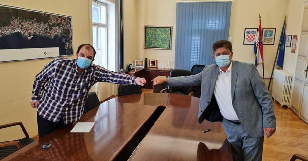 Paolo Petretić i Ivo Dujmić nakon dogovora o suradnji