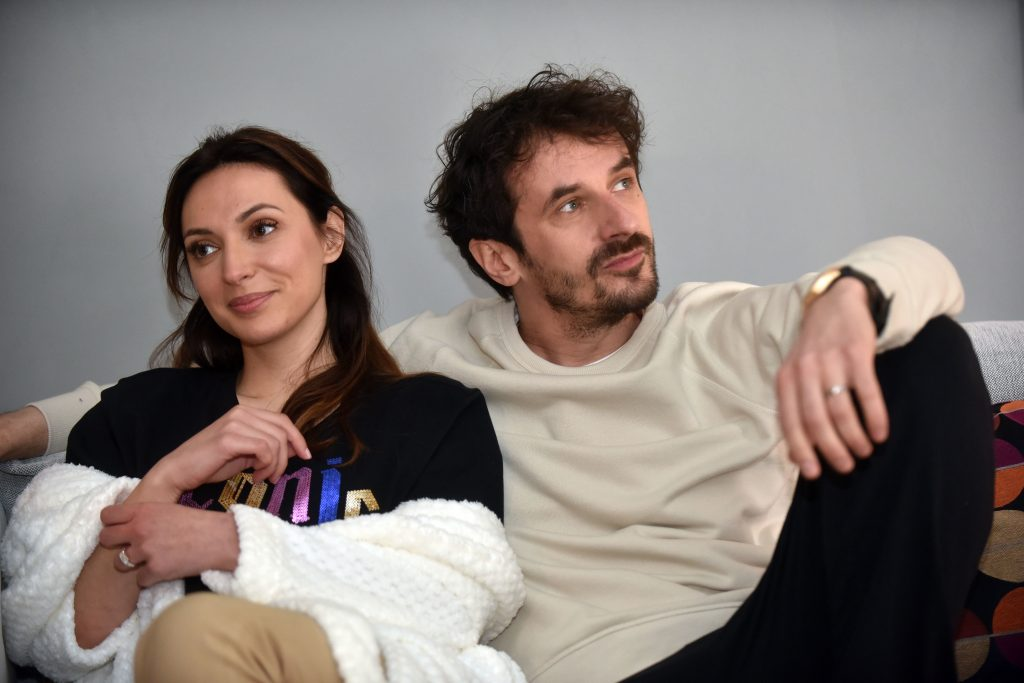 Na snimanju TV-serije »Minus i plus« – Iva Jerković i Igor Kovač / Foto Davor KOVAČEVIĆ