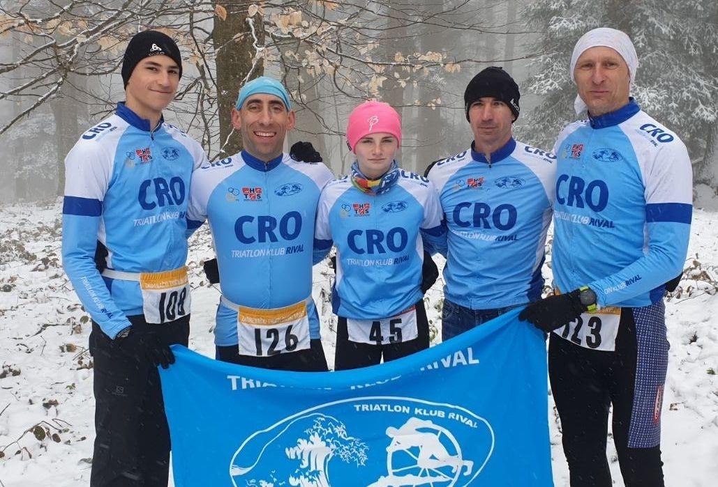 Gabriel Barac, Miro Marić, Aurora Valinčić, trener Blaž Barac i Renato Žic/Foto: TK Rival