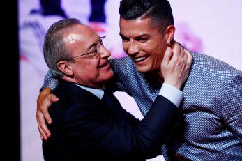 Florentino Perez i Cristiano Ronaldo/Foto REUTERS