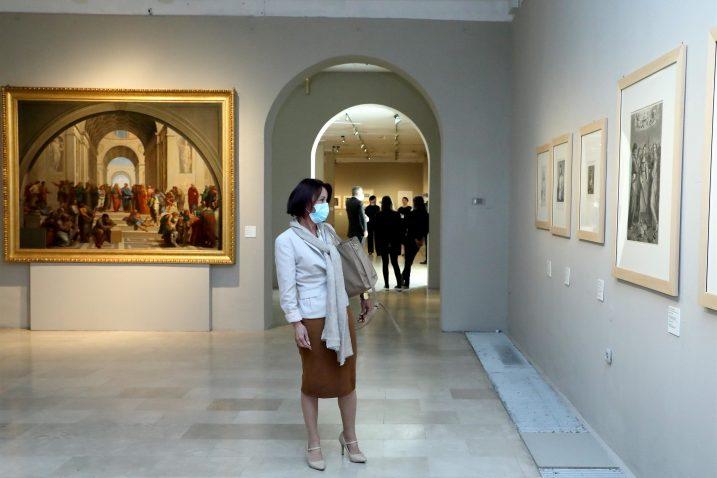 S izložbe posvećene Rafaelu / Foto SREĆKO BUDEK
