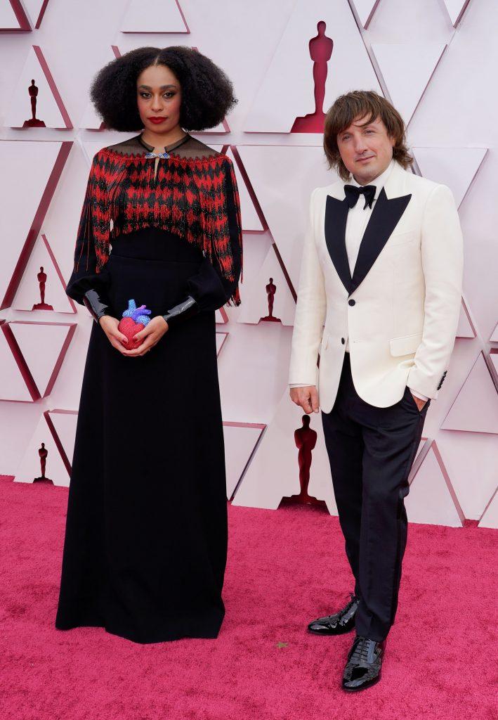 Celeste Waite i Daniel Pemberton. Njezina Gucci torbica »kao srce« hit je ovogodišnjeg crvenog tepiha / Reuters