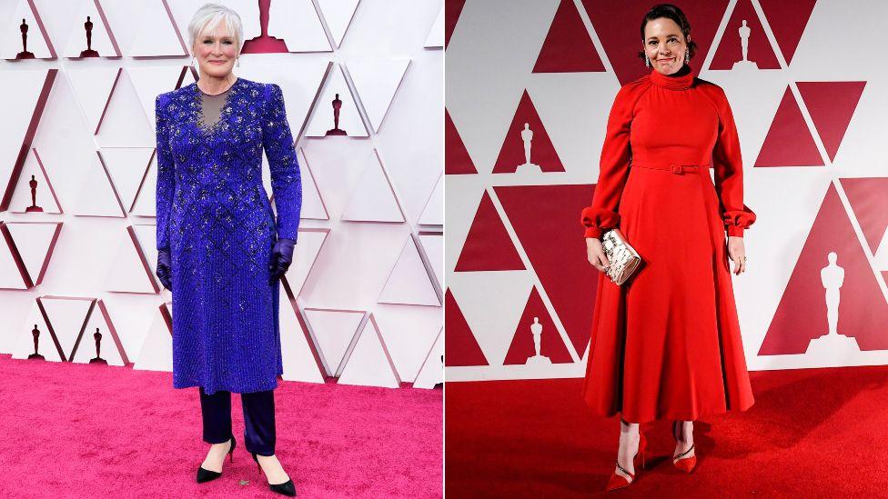 Glen Close u Armani Priveu, a Olivia Colman u Christianu Dioru / Reuters