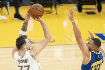 Luka Dončić i Steph Curry/Foto: REUTERS