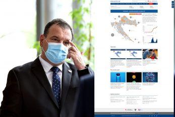 Foto Davor Kovačević, Screenshot koronavirus.hr
