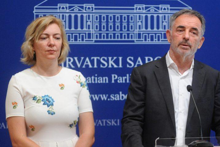 Dragana Jeckov i Milorad Pupovac / Foto: Novi list