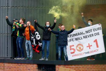 Prosvjed navijača Manchester Uniteda/Foto: REUTERS