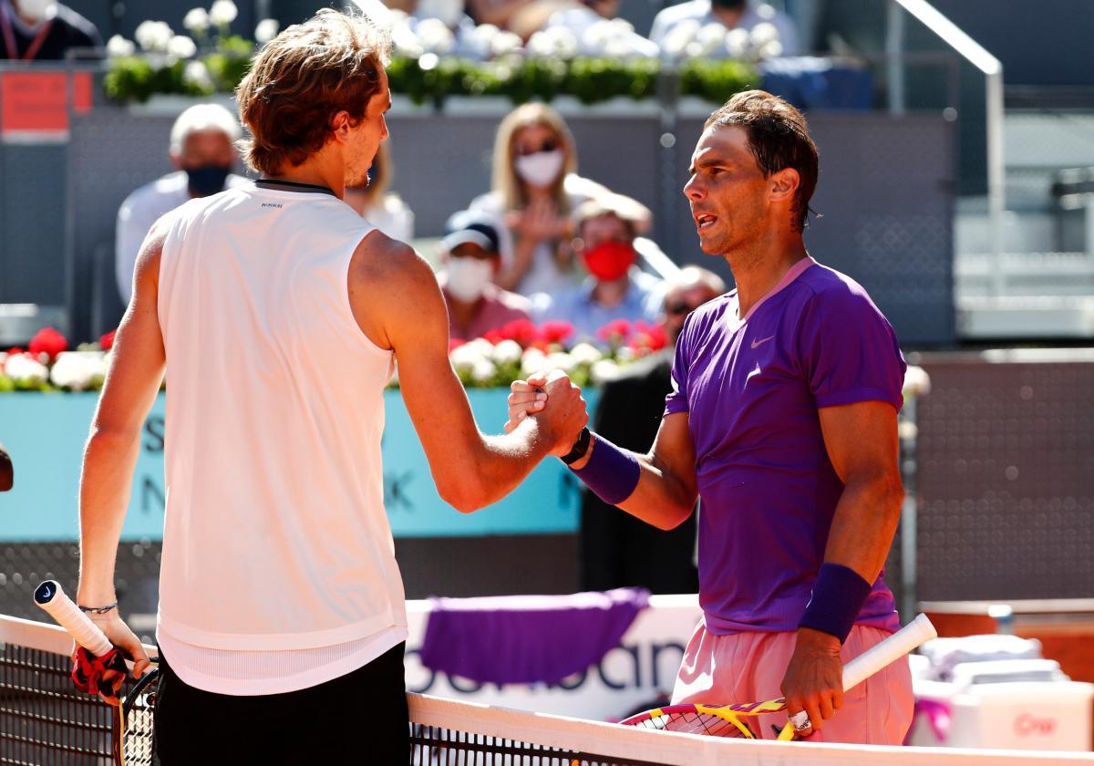 Alexander Zverev i Rafael Nadal/Foto: REUTERS