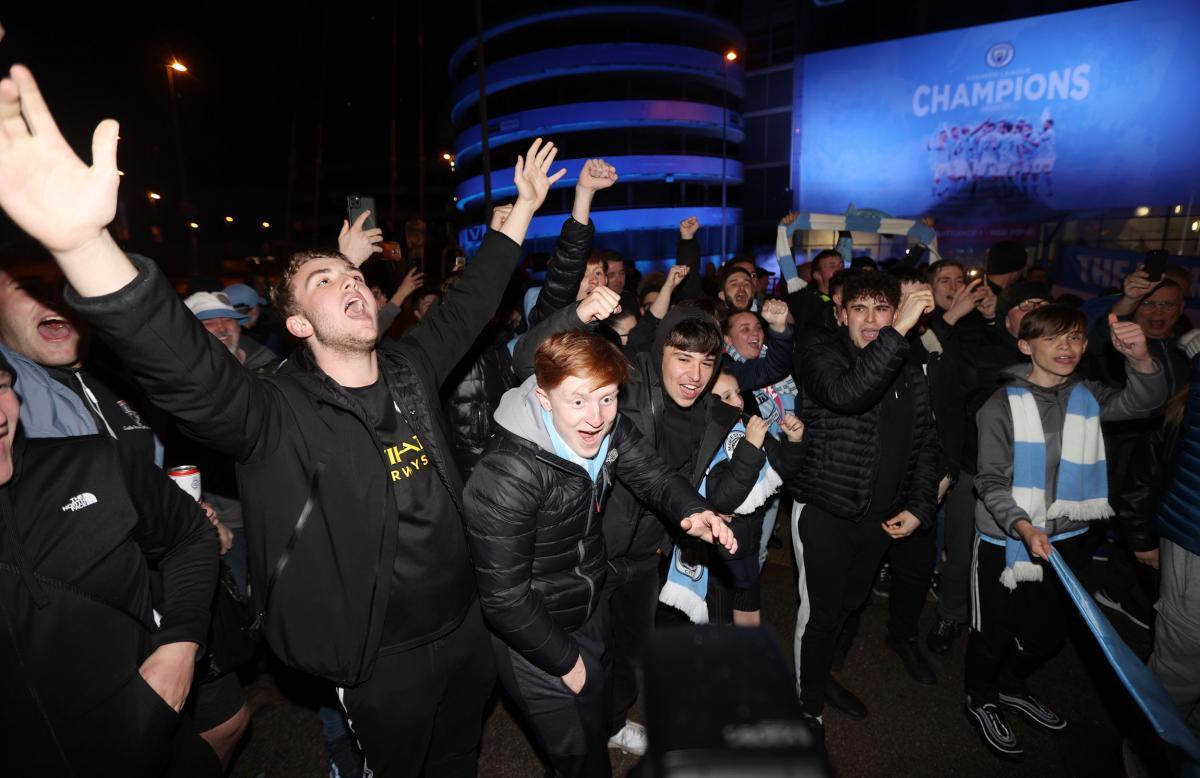 Navijači Manchester Cityja/Foto REUTERS