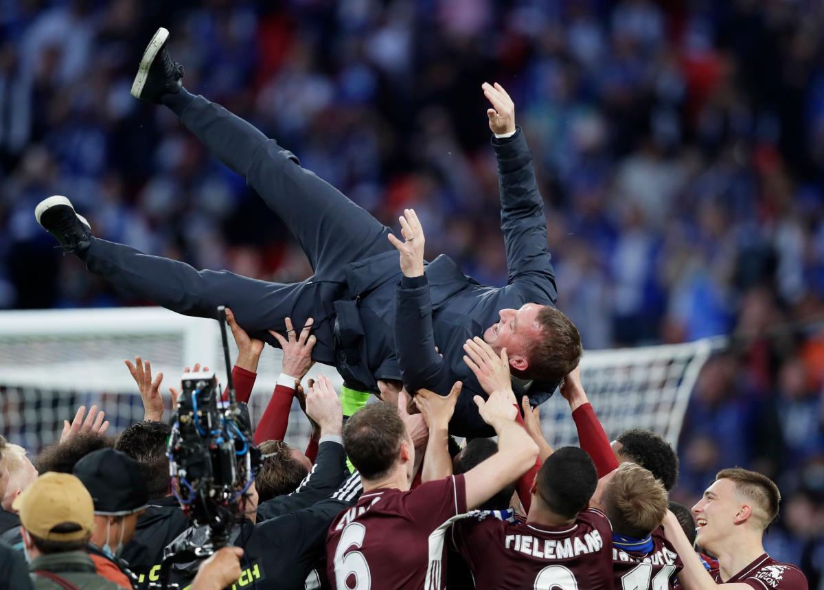 Slavlje igrača i trenera Leicestera/Foto REUTERS