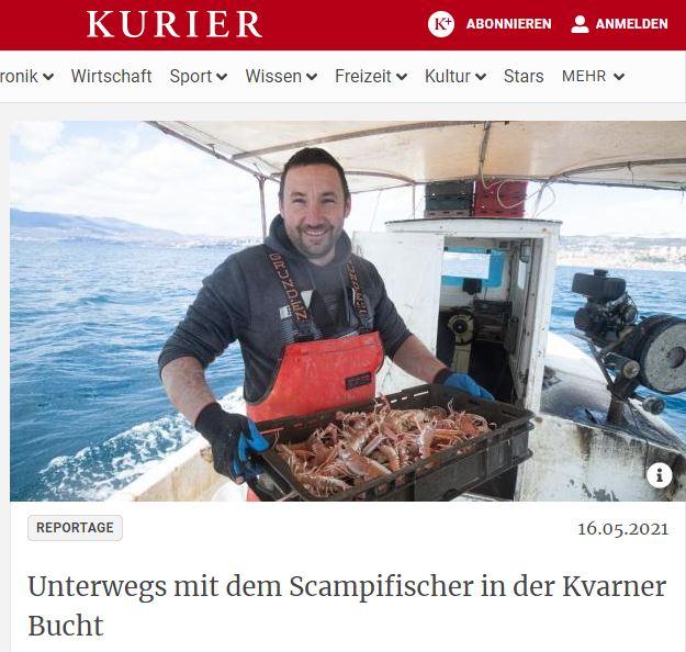 Austrijskom novinaru Uweu Mauchu priču o škamparstvu ispričao je grobnički škampar Nevio Matec