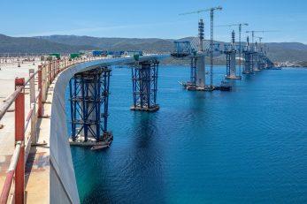 Pelješki most u izgradnji / Foto Grgo Jelavić, Pixsell