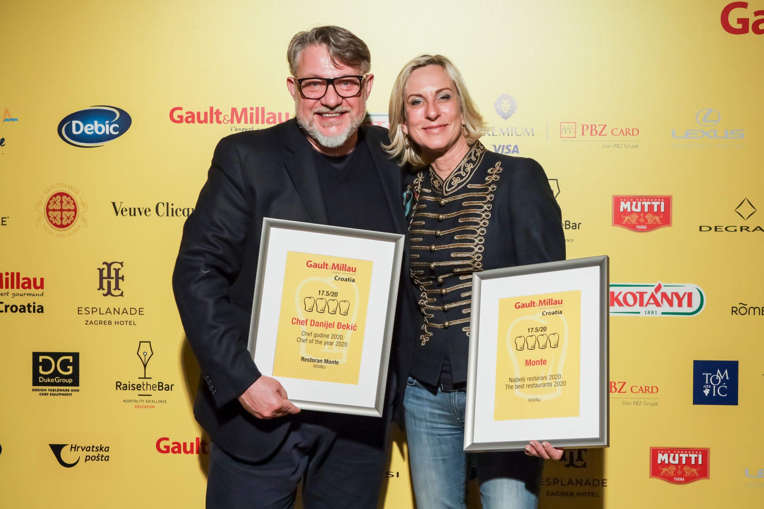 Chef godine G&M Croatia 2020 Danijel Đekić i Tjitske Đekić, restoran Monte