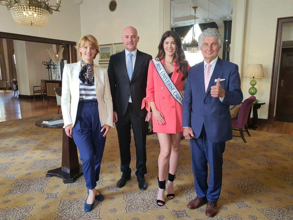Marija Kraljević, Ivica Max Krizmanić, Mirna Naiia Marić, Vladimir Kraljević / Foto Miss Universe Hrvatske