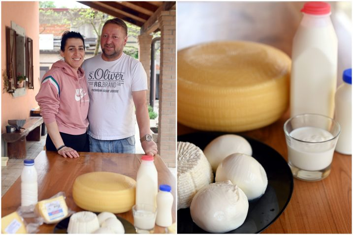 Margita i Josip Buretić sa svojim proizvodima / Foto Vedran Karuza