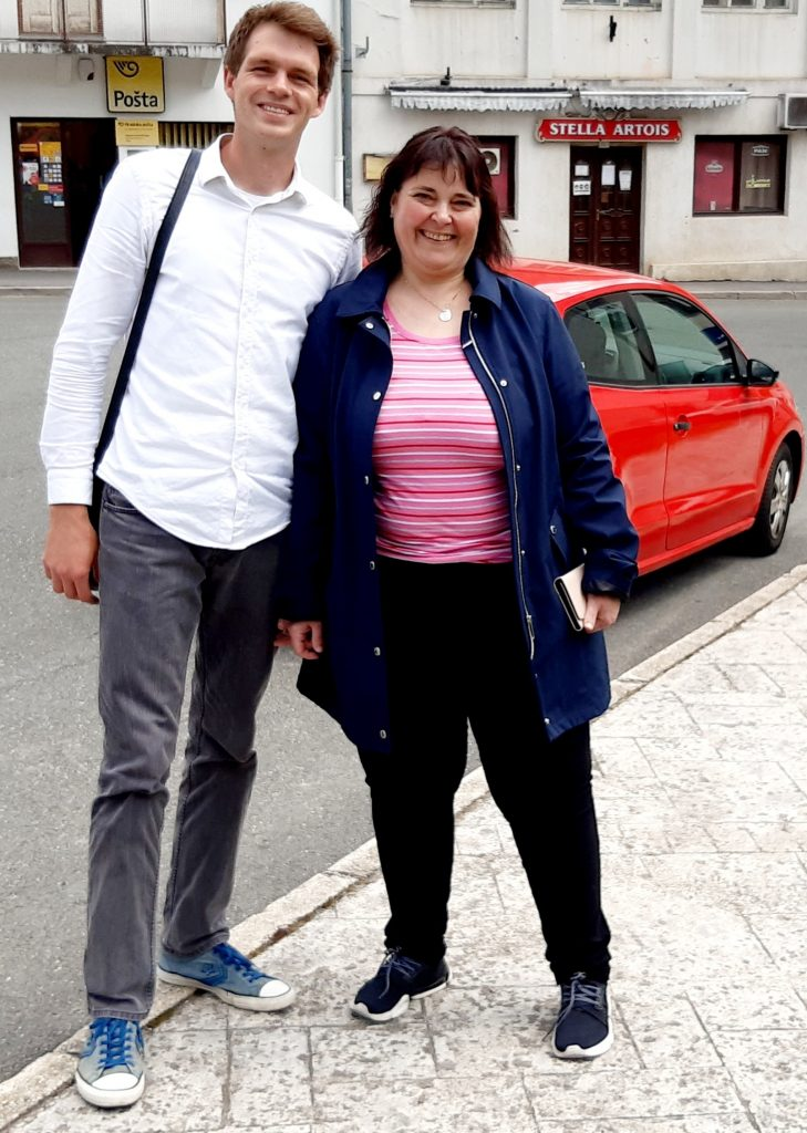 Klaudija Morina došla je iz Švicarske dati glas mladom gradonačelniku / Snimio E. PRODAN