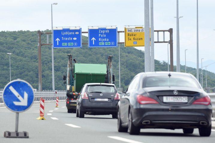 Čvor Sveti Kuzam – ograničena brzina kretanja na 60 kilometara na sat / Foto Marko Gracin