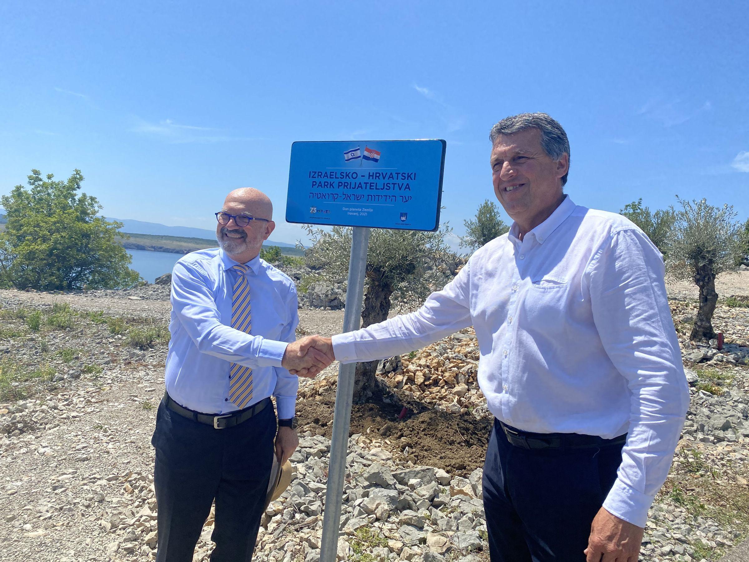 Ilan Mor i Damir Rukavina nakon otvaranja Parka / Foto Ante Peričić