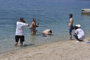 Organizirani zaron na plaži kampa Kovačine / Foto Walter Salković