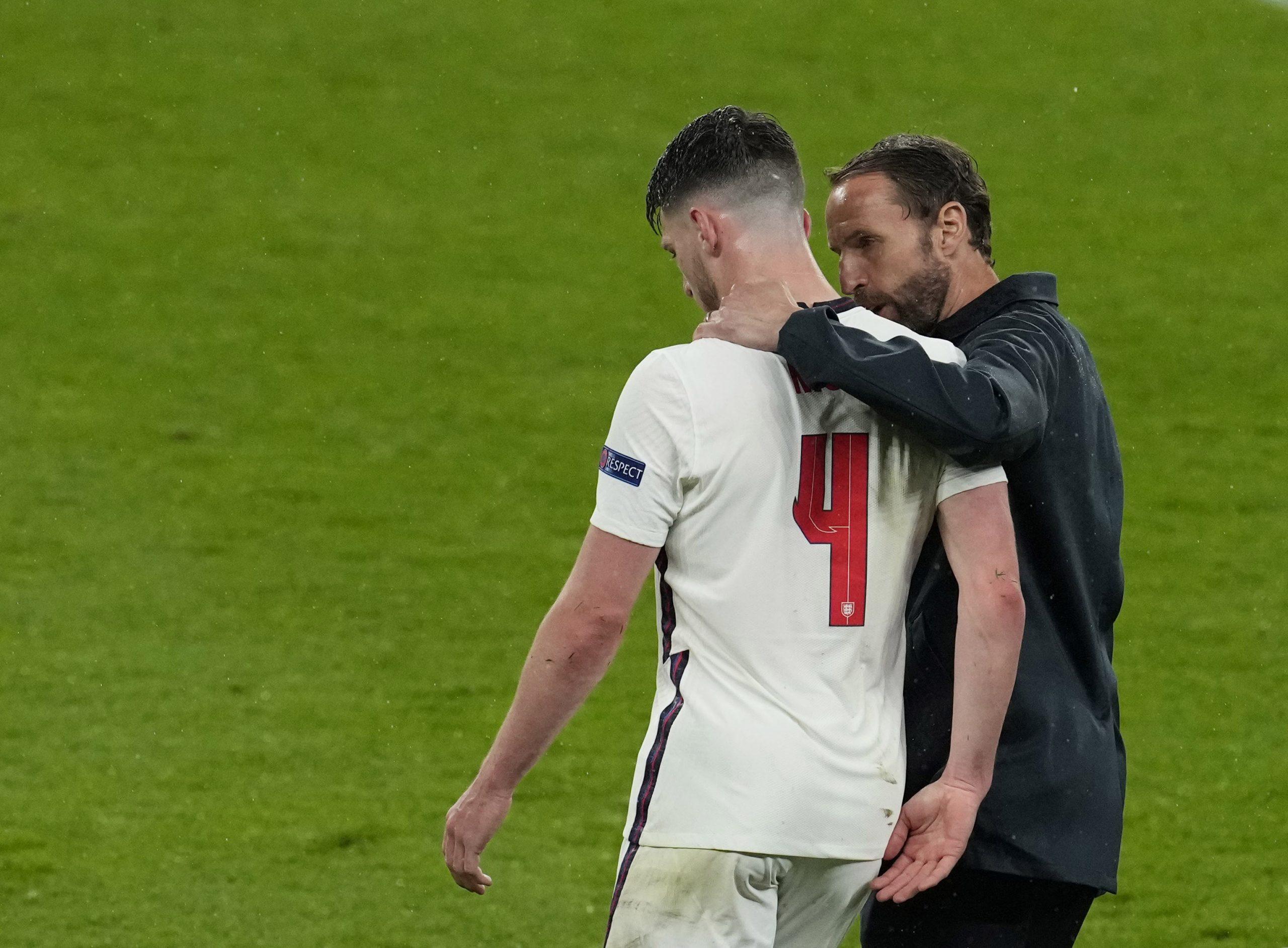 Gareth Southgate i Declan Rice/Foto REUTERS