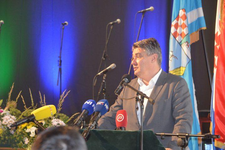 Predsjednik Zoran Milanović u Delnicama / Foto Marinko Krmpotić