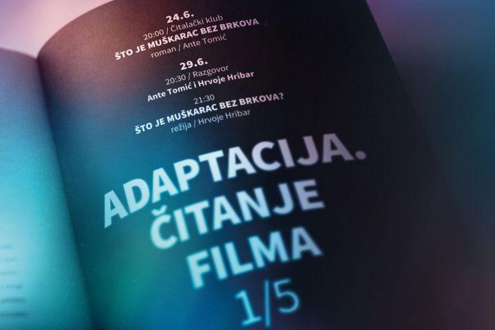 Vizual novog čitateljsko-filmskog kluba Art-kina Croatia Adaptacija. Čitanje filma