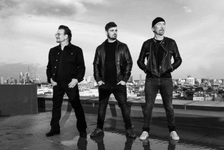 Martin Garrix, Bono i The Edge/Foto Louis van Baar