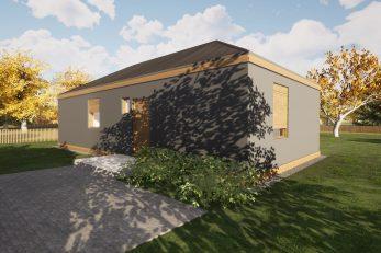 Model kuće koja će se graditi u sklopu projekta Solidarna i Rotary za Banovinu