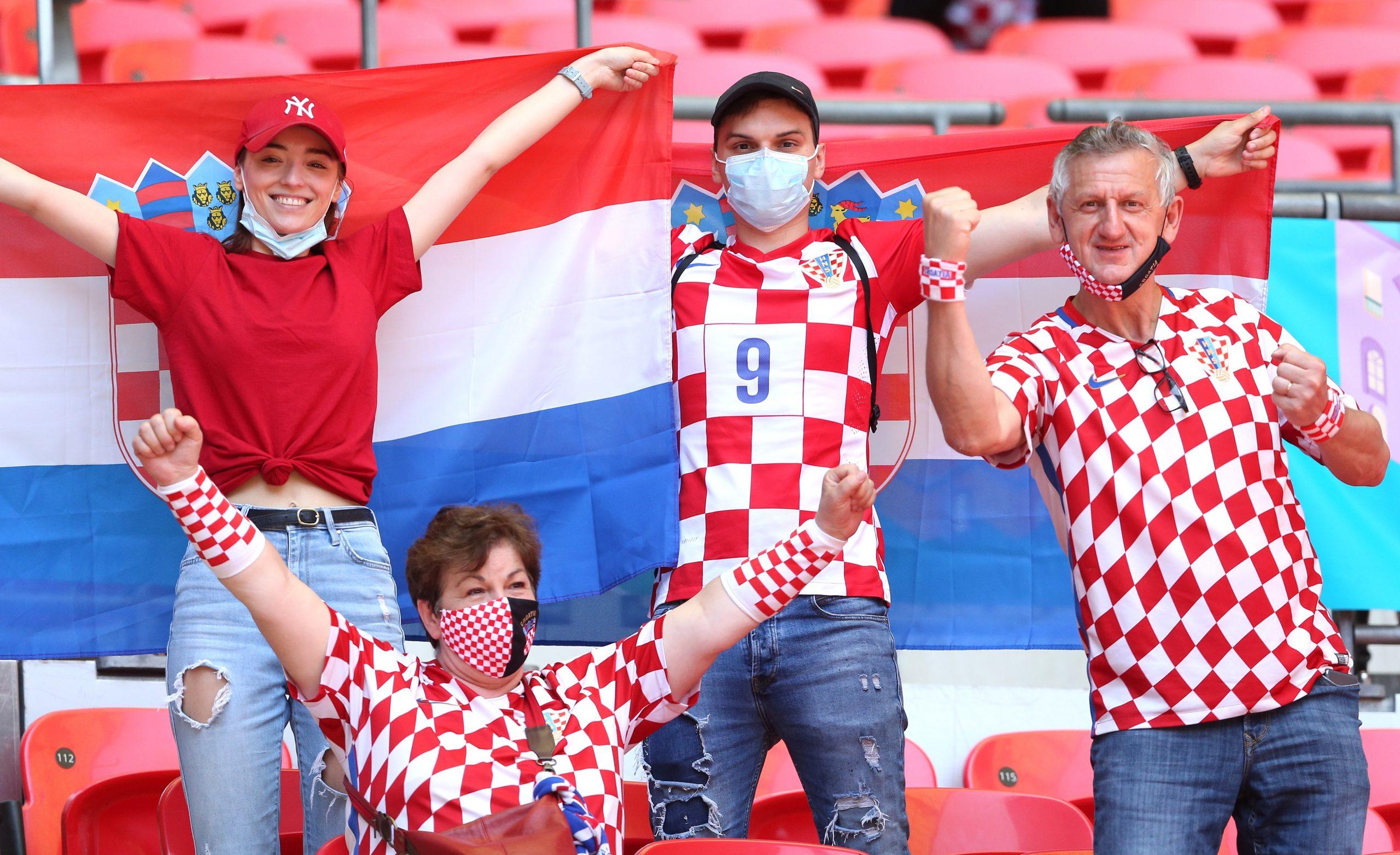 Hrvatski navijači na Wembleyju/Foto PIXSELL