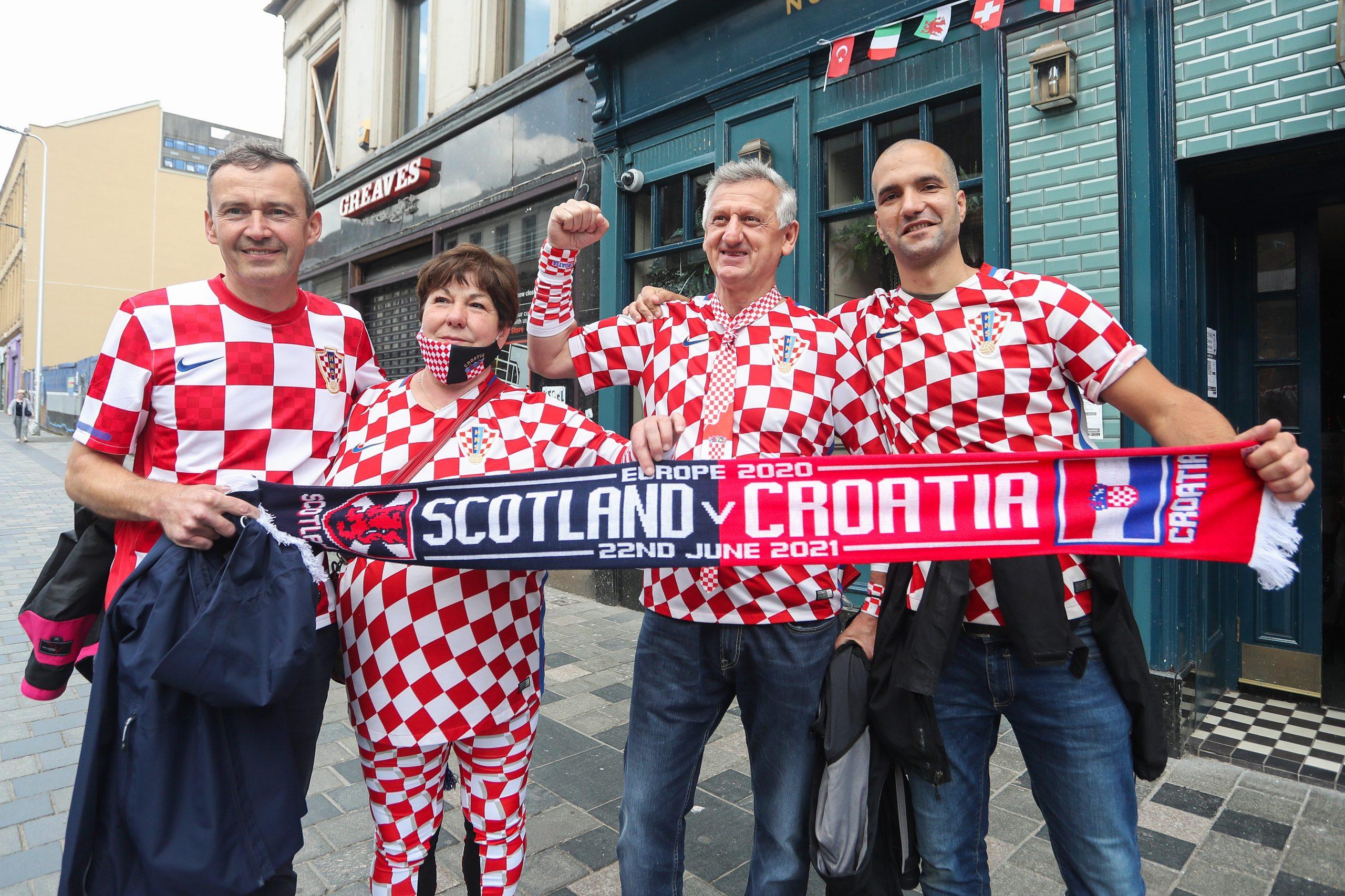 Hrvatski navijači u Glasgowu/Foto PIXSELL