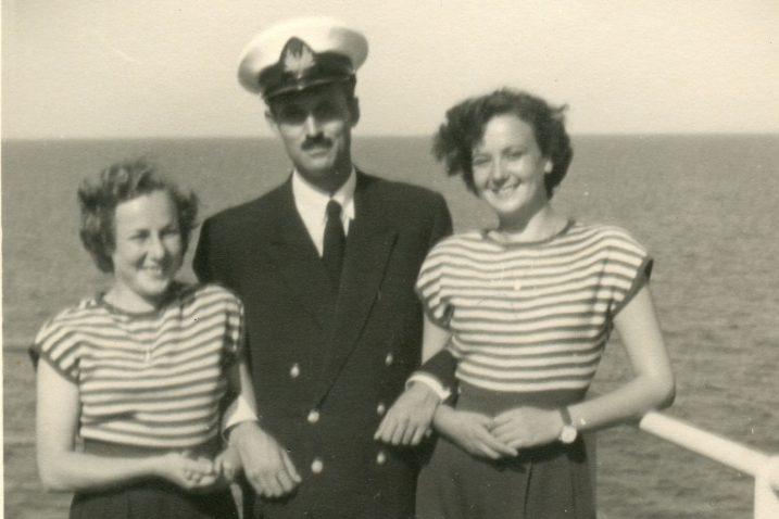 Sava i Jolanda na brodu »Hrvatska«