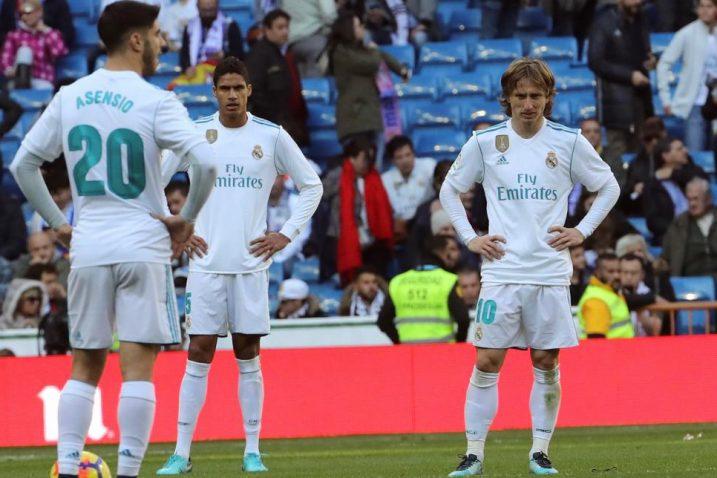 Marco Asensio, Raphael Varane i Luka Modrić/Foto: REUTERS
