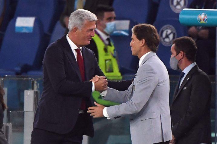 Vladimir Petković i Roberto Mancini/Foto REUTERS