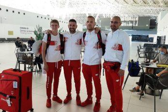 NIkolina Ćaćić i Luka Plantić s trenerima