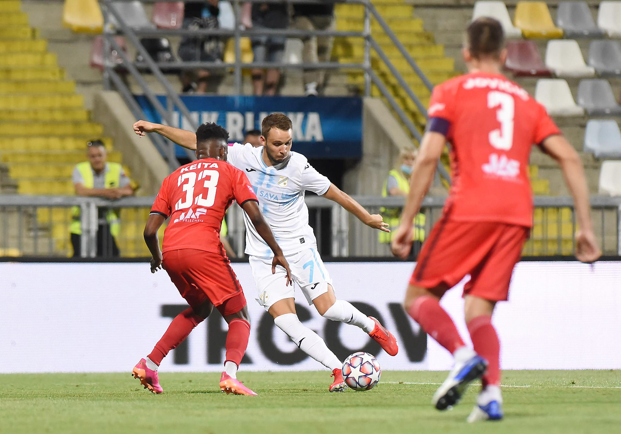Robert Murić tijekom ogleda protiv Gorice/Foto S. DRECHSLER