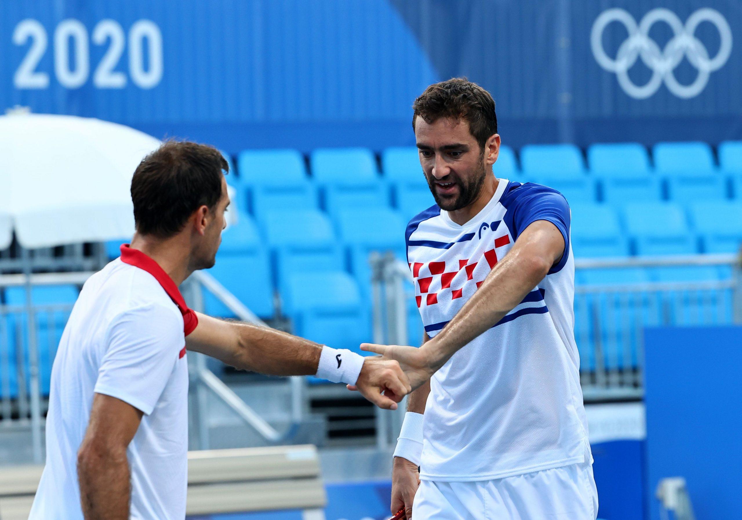 Ivan Dodig i Marin Čilić/Foto REUTERS
