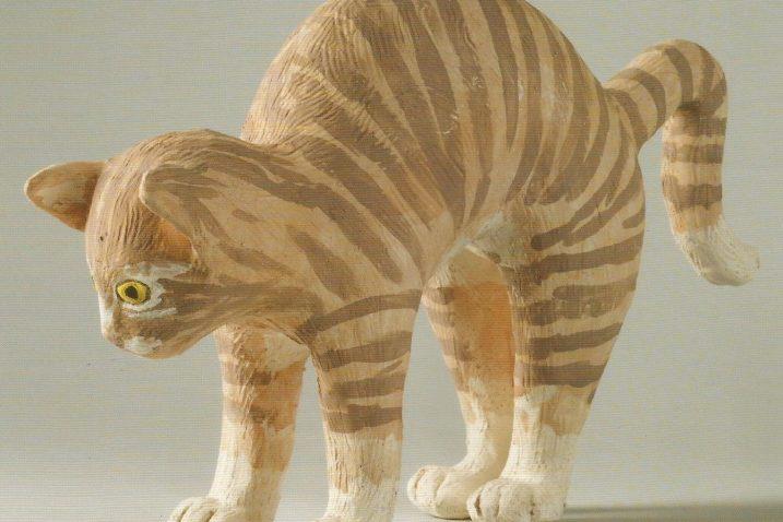 Narančasti tigrić, jedna od mačaka s izložbe Renate Vranyczany Azinović