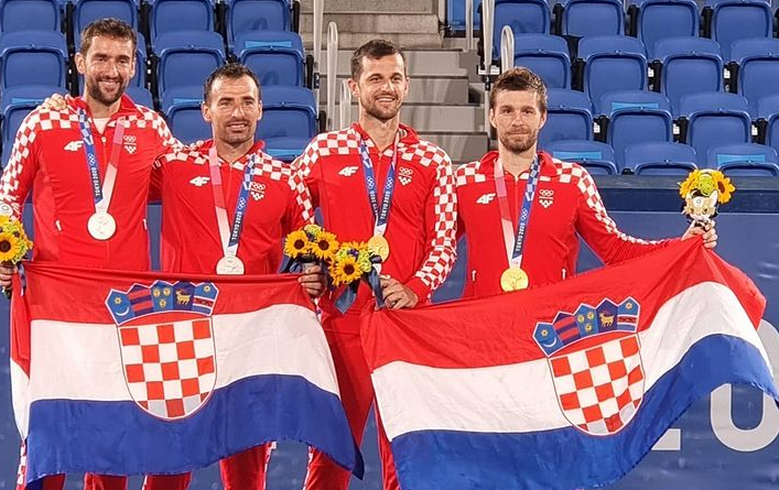 FOTOGRAFIJA ZA POVIJEST - Zlatni i srebrni hrvatski tenisači/Foto HOO