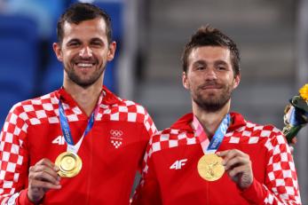 Nikola Mektić i Mate Pavić donijeli su Hrvatskoj treće zlato u Tokiju/Foto REUTERS