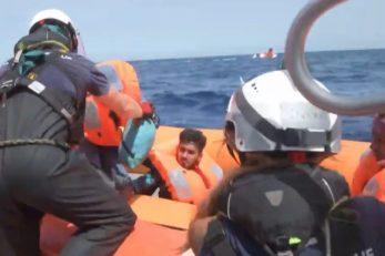 Ilustracija akcije spašavanja koju izvodi posada broda Ocean Viking organizacije SOS Mediteran (ne prikazuje akciju iz teksta) / Foto Screenshot YouTube SOS Mediteran