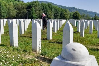 Memorijalni centar u Potočarima - groblje. / Foto HINA/ Ivo LUČIĆ/ il