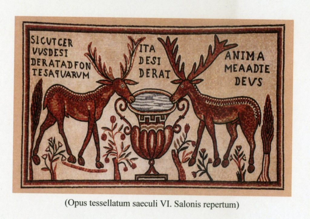 Iz brošure prve Ljetne škole latinskog jezika i kulture - Salona (mozaik, 6. stoljeće)