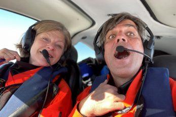 Odmak od uobičajenog obrasca očekivanja mirovine i posjeta unuka - argentinski par u jednom od letova / Foto privatna arhiva Alex i Martina Gronberger
